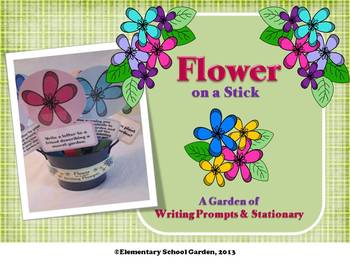 Flower on a Stick - Spring Writing Prompts and Stationary
