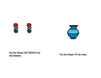 Flower preposition activity book