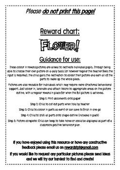 Flower reward chart
