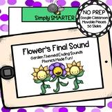 Garden Themed Ending Sound Activities For GOOGLE CLASSROOM