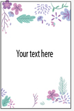 Flower template INVITATION