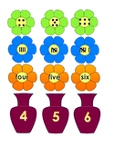 Flower theme Numbers to 10 Match