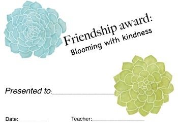 Flower theme student certificates/awards