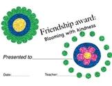 Flower theme student certificates/awards