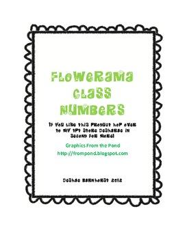 Flowered Number Badges in Color!!