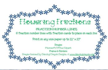 Flowering Fraction Number Lines