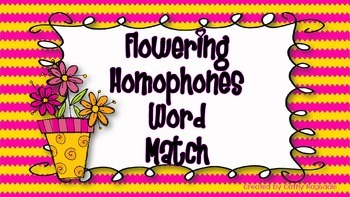Flowering Homophone Word Match