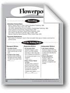 Flowerpot Shape Book