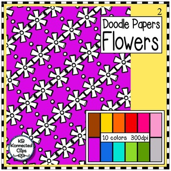 Flowers 2 - Doodle Papers