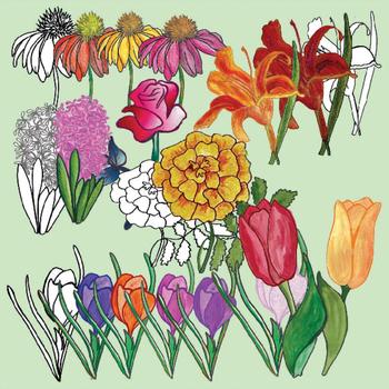Flowers Realistic Clip Art