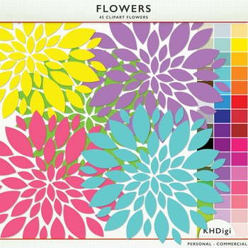 Flowers - 45 Clipart Flowers
