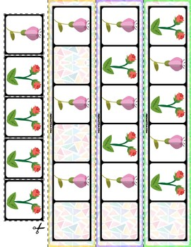 Flowers AB Pattern Cards | 30 Cards