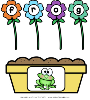 Flowers CCVC Word Building Activity