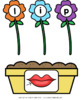 Flowers CVC Word Building Activity