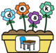 Flowers CVCC Word Building Activity