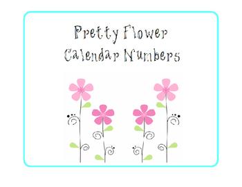 Flowers Calendar Numbers