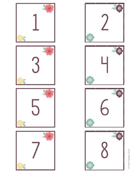 Flowers Classroom Calendar