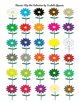 Clip Art Collection - Flowers (Spring, Summer, Flowers, Colors Themes - CU)