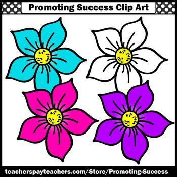 Flowers Clip Art, Mini Set, Spring or Summer Clipart for Bulletin Boards  SPS