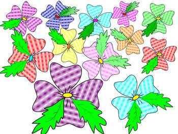 Clovers -  Flowers - Clip Art - Personal or Commercial Use