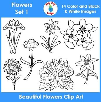 Flowers Clip Art Set 1