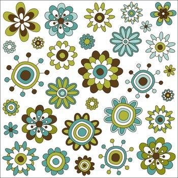 Flowers Clip Art Set