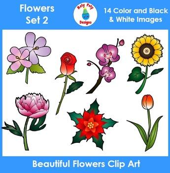 Flowers Clip Art Set 2