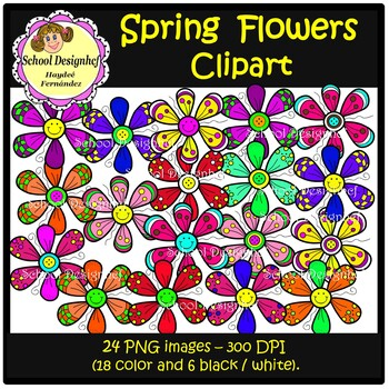 Flowers Clip Art - Spring (School Design)