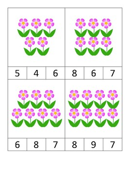 Flowers Clip Cards
