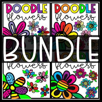 Flowers Clipart- Doodle Flowers BUNDLE