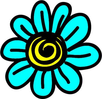 Flowers Clipart- Doodle Flowers Set 3