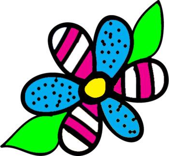 Flowers Clipart- Doodle Flowers Set 4