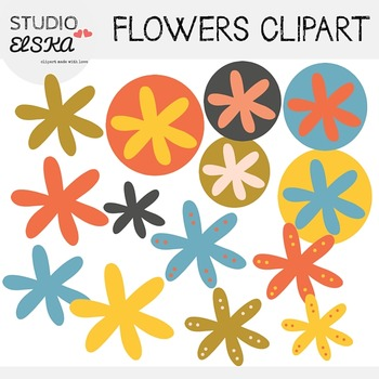 Flowers Clipart (plus page dividers) - Studio ELSKA