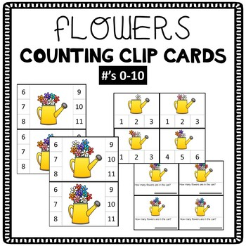 Flowers Counting Clip Cards