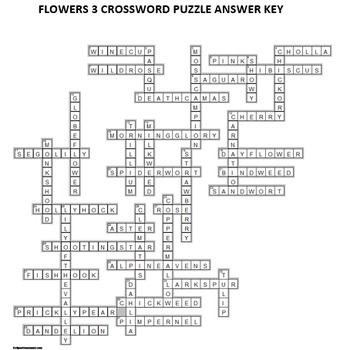 Flowers Crossword Puzzles   Vol. 3