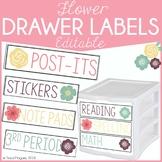 Flowers Editable Drawer Labels