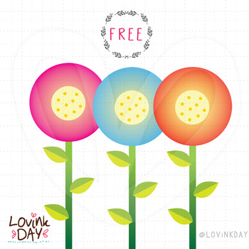 Flowers - FREE clip art