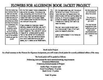 Flowers For Algernon Book Jacket