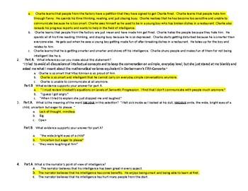 Flowers For Algernon Progress Report 11 PARCC-like quiz Lesson 7 LA Believes