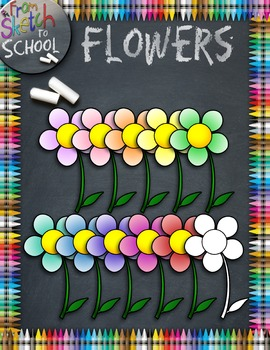 Flowers {From Sketch to School Clipart}