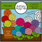 Flowers Clipart {A Hughes Design}