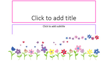 Flowers In The Spring PowerPoint Template