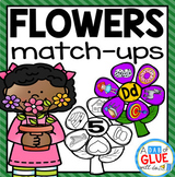 Flowers Initial Sound and Number Match-Up Bundle