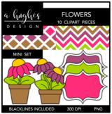 Flowers Mini Clipart Set {A Hughes Design}