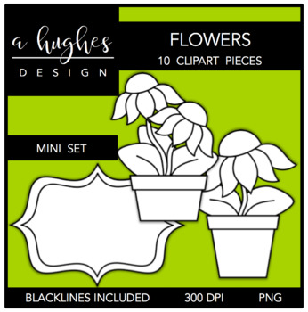 Flowers Mini Clipart Set {A Hughes Design}