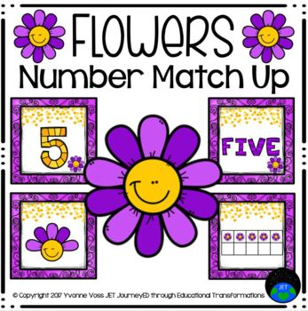 Flowers Number Match Up