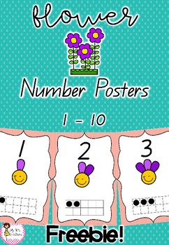 Flower Numbers 0-10 Number Posters