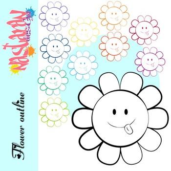 Flower Outline Clipart