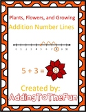 Flowers & Plants Number Line Addition Worksheets