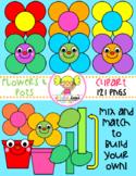 Flowers & Pots Clipart